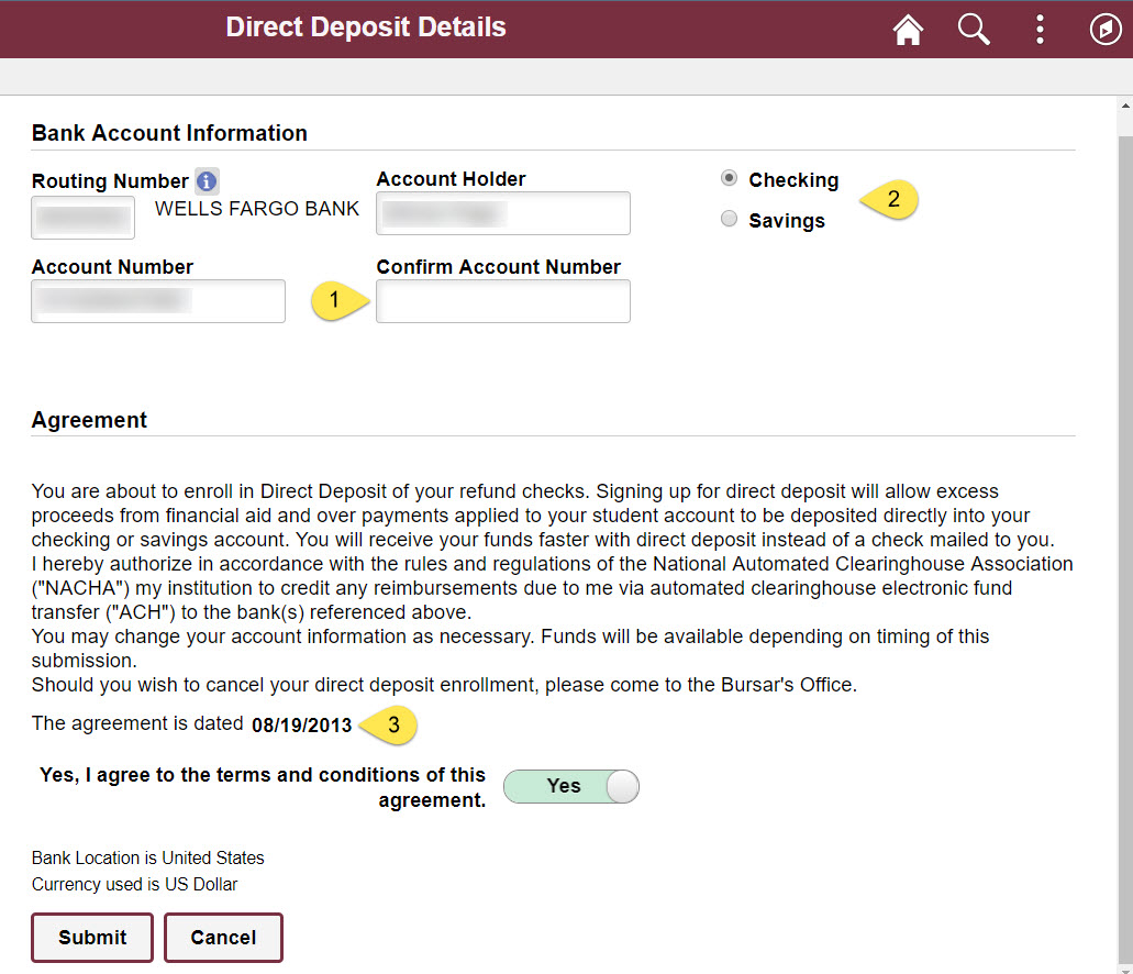 Direct Deposit | Student Business Services